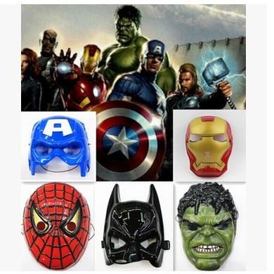 Superhero Halloween Mask for Kid & Adult Avengers Marvel Captain America Spiderman Hulk Iron Man Batman Star Wars Mask 2017 new the avengers hulk flash mask led glowing hulk cartoon mask adult
