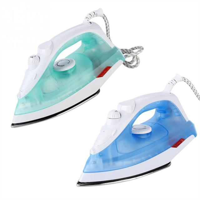 EU Plug 220V 1400W Electric Steam Iron Wire 5 Gears Adjust Ceramic soleplatefor Garment Clothes Measuring Cup for Home