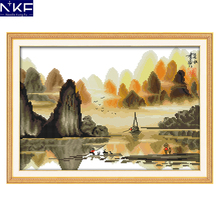 NKF Poetic Li River Embroidery Cross Stitch Kits Needlework
