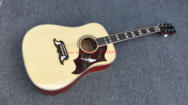 New + Factory + Natural hummingbird acoustic guitar hummingbird electric acoustic guitar Free Shpping Humming bird acoustic