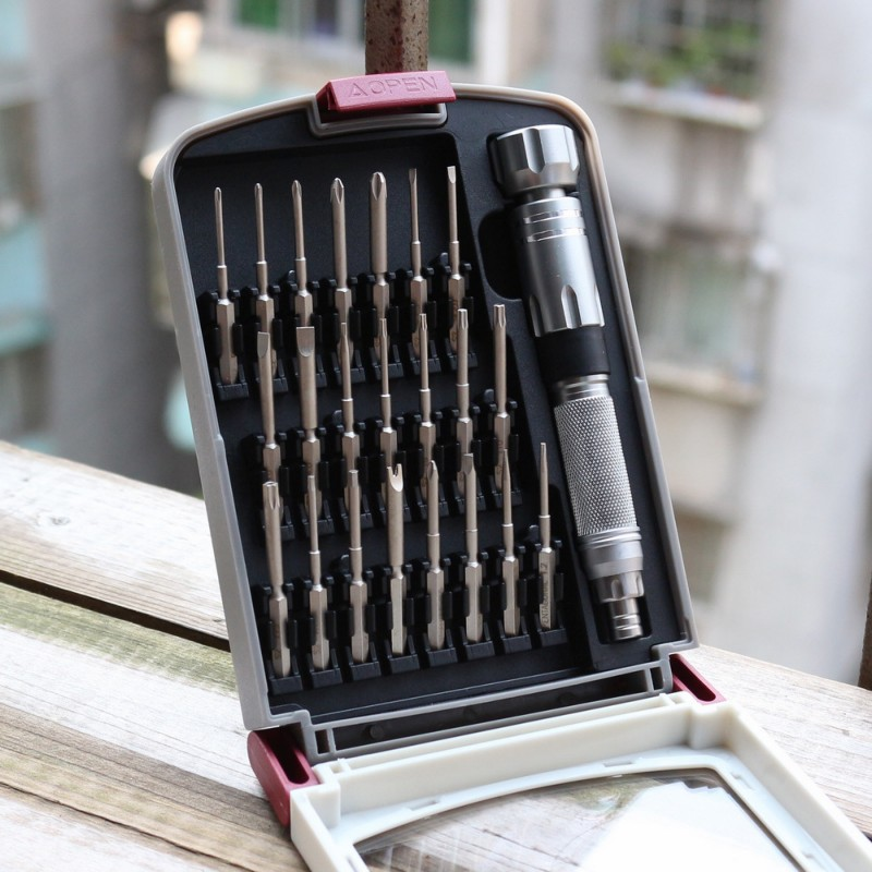 Precision Screwdriver Set 23 pcs with 22 bits S2 Steel Repair Tool Kit for iPhone/Computer/Electronics/Laptops Screwdriver     - title=