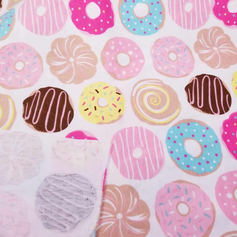Hot sale Meio Metro Donut Tecido Jersey de Malha de Algodão Do Bebê para roupas de BRICOLAGE, babadores para bebês, revestido, lençóis de Algodão Pano