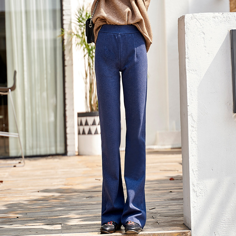 ACRMRAC Women pants Slim High waist pants spring autumn Solid color Straight pants Full Length pants Women 8136