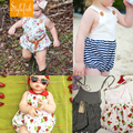 2016 New Female Baby Casual Romper Summer Cotton Sleeveless Sling Triangle Climbing Clothes Four Kinds Of Paragraph Hot Sale
