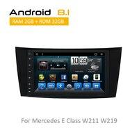 Для Mercedes e класса W219 W211 2004 2005 2006 ОС android 8,1 Поддержка заднего вида Камера с bluetooth автомобиля Wi Fi TPMS Зеркало Ссылка