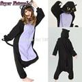 Super barato naturais fantasma assustador cat pijama animal adulto inverno mulheres homens onesie specter midnight cat halloween traje cosplay