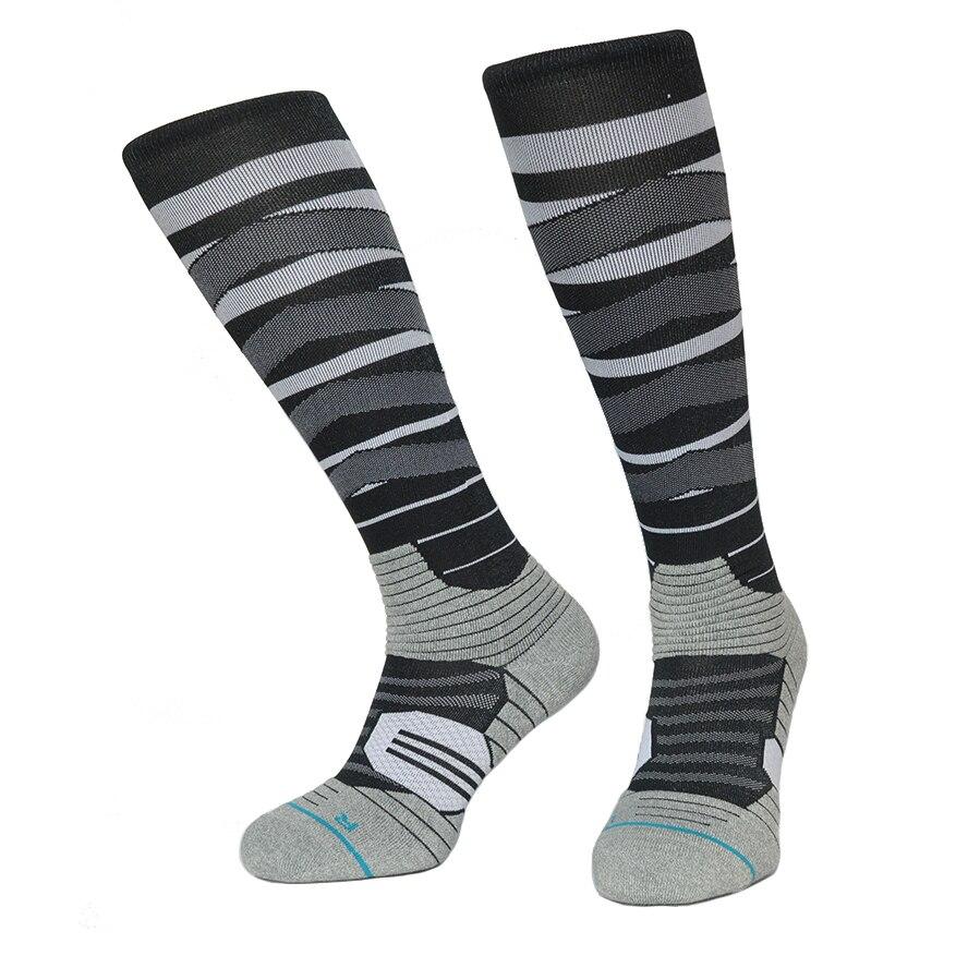 Socks Snowboard Compression Sock Men CoolMax Nylon Knee High Cycling Socks Color Rush Grid Sports Thermosocks Sport Striped Sock