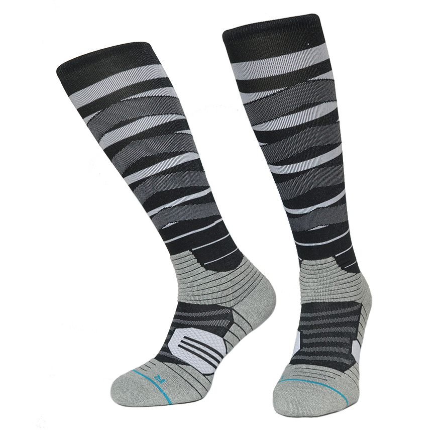 Industrious Socks Snowboard Compression Sock Men Coolmax Nylon Knee High Cycling Socks Color Rush Grid Sports Thermosocks Sport Striped Sock 2019 Official