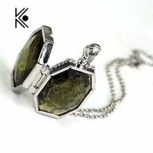 Медальон-крестраж, стеклянная коробка, сплав, подвеска, ожерелье s, крутая цепочка, ожерелье, украшение, шарм, подарок для фанатов, косплей, фильм, ювелирное изделие