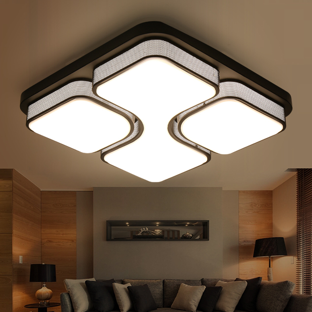 Simple art modern led ceiling lights bedroom living room ...