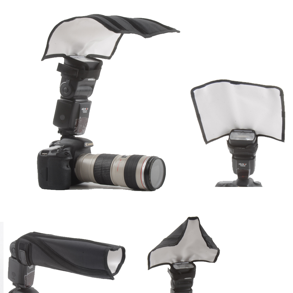 Universal Foldable Flash Reflector Snoot Diffuser Softbox for Canon Nikon Sony Yongnuo Pentax 4 in 1 universal flash reflector