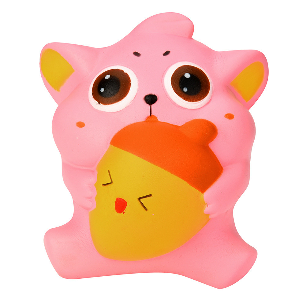 Cute Gift 10CM Cute Kitty Cream Scented Squishy Slow Rising Squeeze Strap Kids Toys Gifts 28S71027 drop shipping