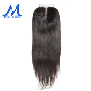 Image 3 - Missblue Brazilian Human Hair Lace Closure Straight 4x4 5x5 Swiss Lace 100% Remy Hair Lace Frontal Closure With Baby Hair