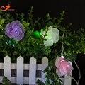 Rosa cor de fibra óptica luzes cordas de fadas luzes led Natal luz jardim Primavera festa flor alimentado por bateria 3 V interior