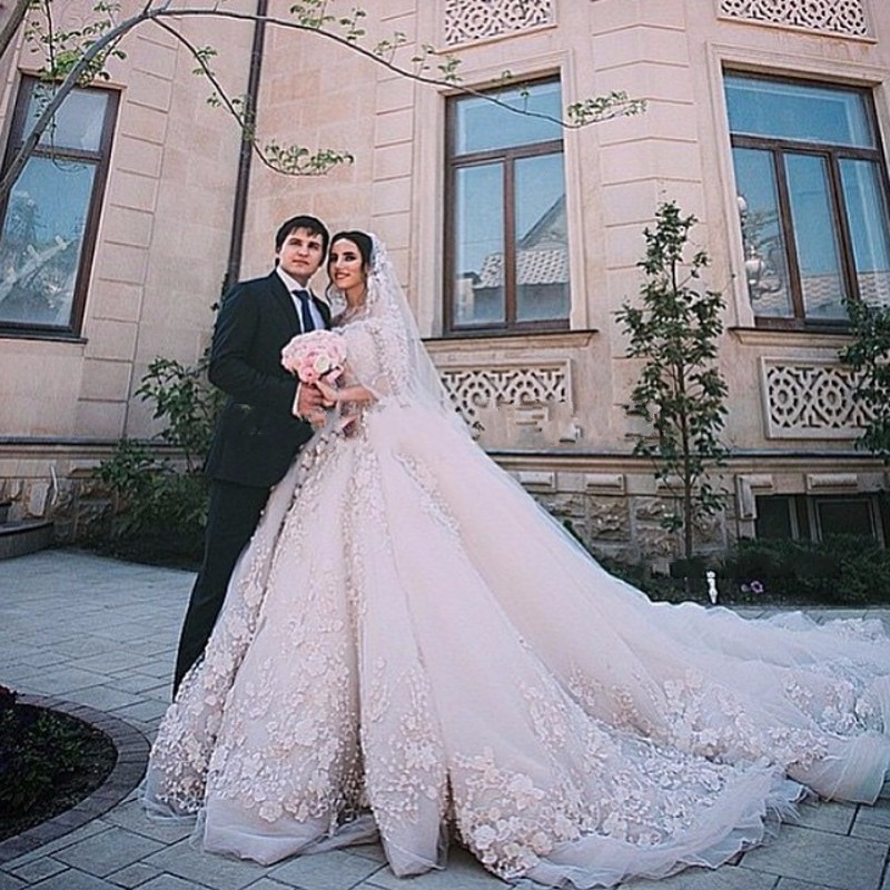 SOFUGUE Wedding Dresses 2016 Luxury Cathedral Train Lace Vestido De ...
