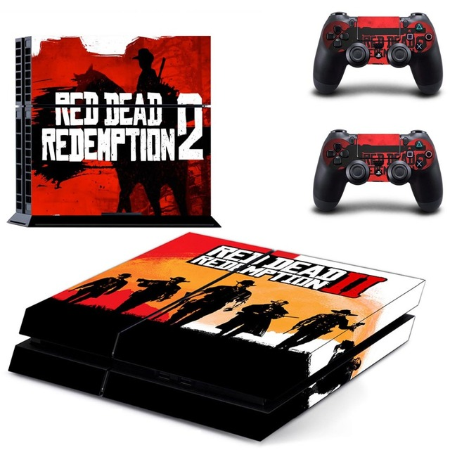 Red Dead:Redemption II PS4 Skin Sticker for Sony PlayStation 4 Console and 2 controller skins 1