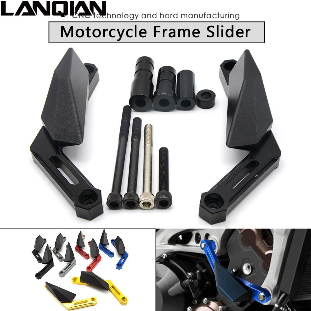 Motorcycle Frame Sliders Crash Engine Protection Pad Aluminium Side Shield Protector For Yamaha FJ09 2015 2016 XSR900 2016 MT09