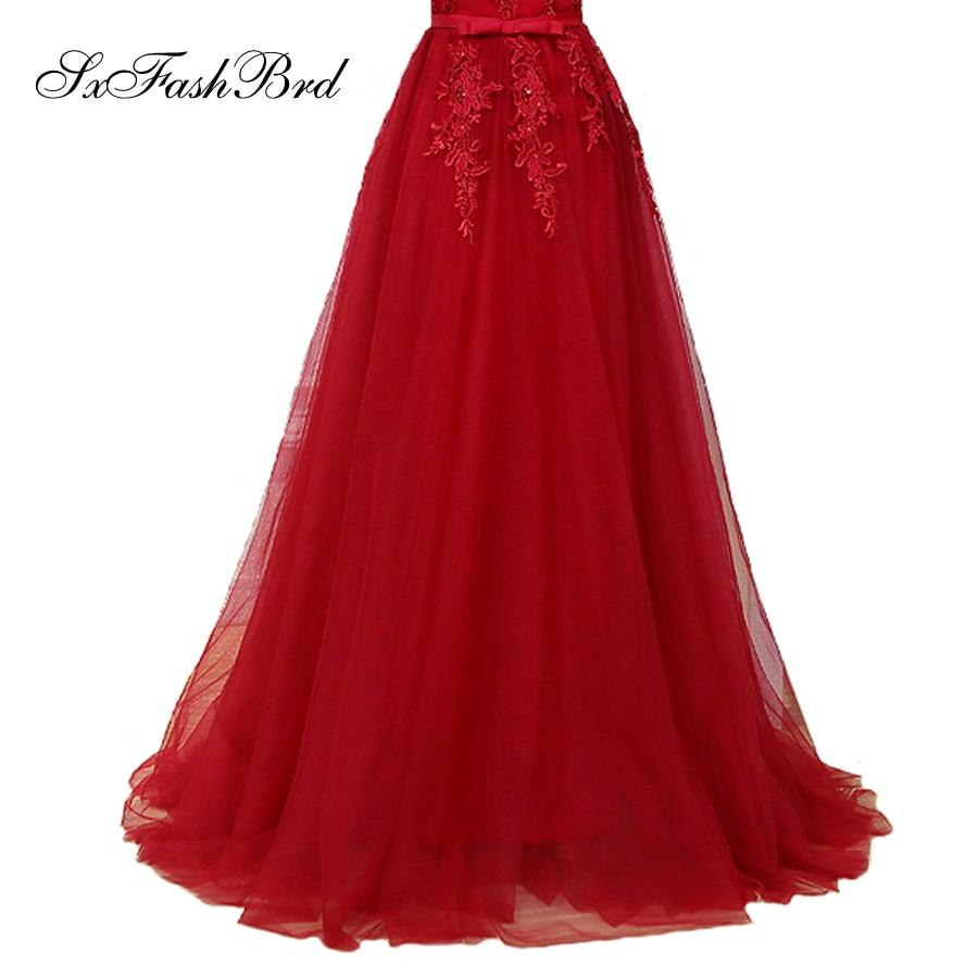 Vestido De Festa V με λαιμό με τις εφαρμογές - Ειδικές φορέματα περίπτωσης - Φωτογραφία 5