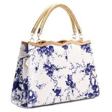 2019 Chinese national style blue and white porcelain pattern ladies handbag fashion casual shoulder bag female