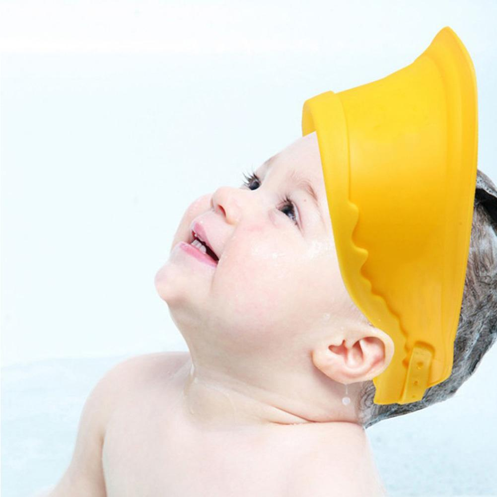 3 Colors Baby Shower Cap Baby Shampoo Ear Protection Waterproof Child Shower Cap Plus Size Thickened Adjustable Shower Caps