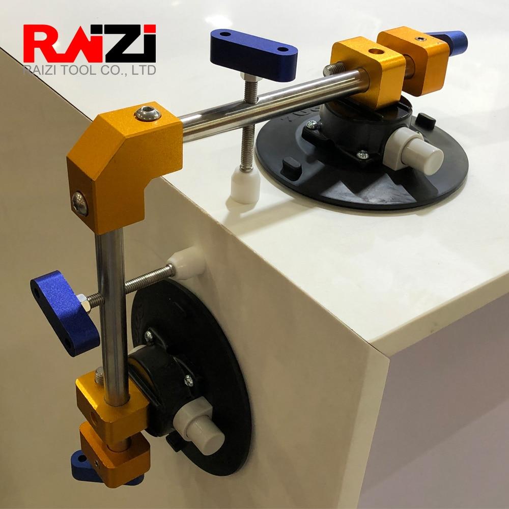 Raizi 2 Pcs 90 Degree Stone Seam Setter Waterfall Vertical Marble Granite Countertop With Plastic Case Manual Installation Tools