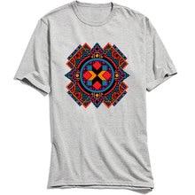 Optical Art X T-shirts Men Short Sleeve Plaid Tshirt Hip Hop Summer/Autumn Tops Comfortable T Shirt O-Neck 100% Cotton Tees