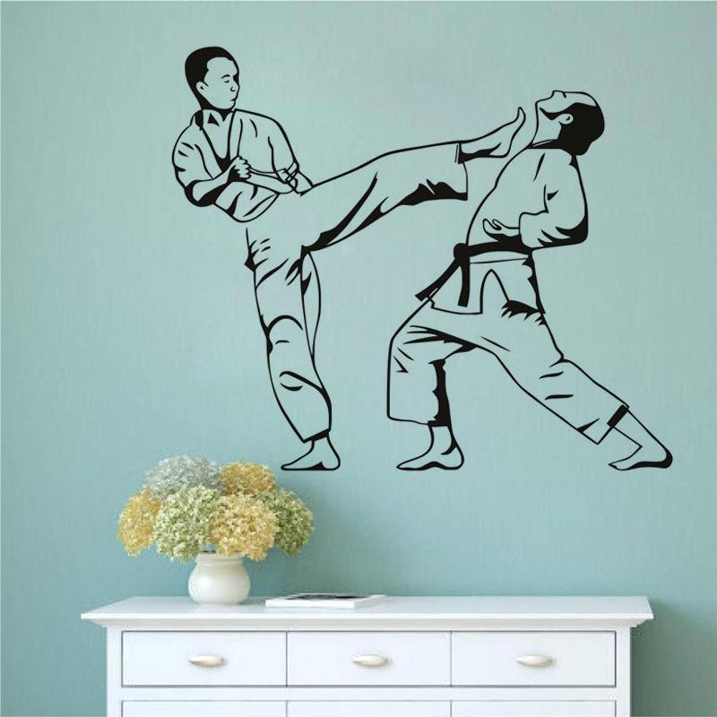 Artesanato Tiradentes Mg ~ Aliexpress com Buy Karate Kick Judo Jiu Jitsu Extreme Sports& Fighting Wall Stickers Sport