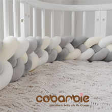 220cm length Heightening Baby Braided Crib Bumpers 4 Strip Knot Long Pillow Cushion,Nursery bedding,cot bedding , room dector - DISCOUNT ITEM  25% OFF Mother & Kids