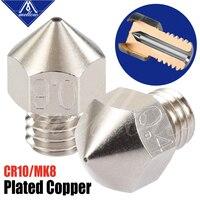 Os bocais de cobre chapeados de mellow Nf-mk8 reduzem a vara durável para o ender 3 cr10 do elevado desempenho micro swiss hotend para a impressora 3d