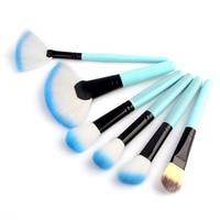 Cosmetic Brushes Blue 32pcs Professional Soft Makeup Brush Set Kit Bag Tool For Face Eye Shadows