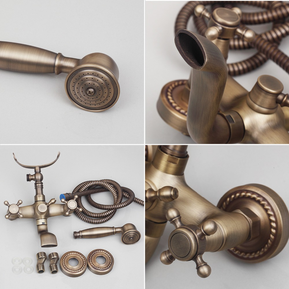 Bathroom Faucet Chrome with Diverter Antique Brass Water Mixer ...