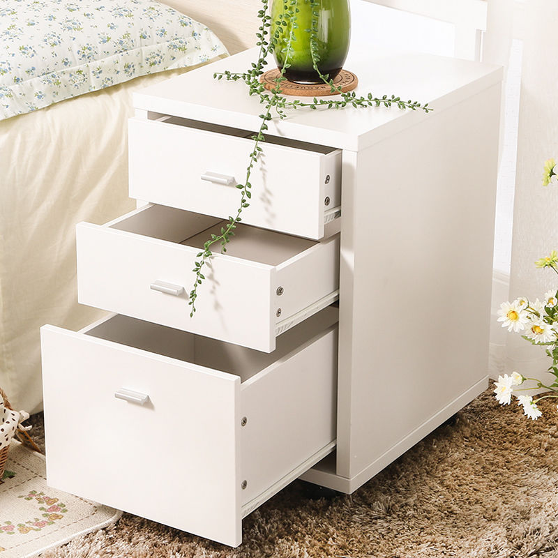 3 Tier Coffee Sofa Side End Table TV Snack Stand Rolling Over Bed Laptop PC Desk Table for Bedroom Storage drawer Square table zen s bamboo nightstand miti function storage drawer cabinet bed side table living bedroom funiture