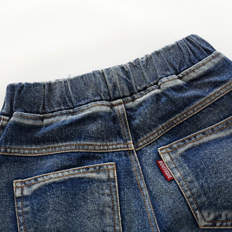 Hole Jeans For Boys Elastic Waist Kids Denim Trousers Kids Cowboy Harem Pants Solid Boy Jeans 2017 Spring Children Jeans 2-6 Y  (12)