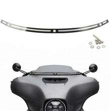 Motorcycle CNC Black Windshield Trim For Harley 2014-2017 Touring Street Electra Glide FLHX