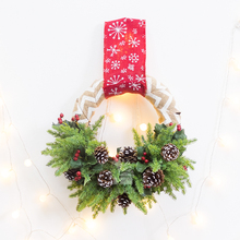 Christmas Pine Needles Wreath Home Party New Year Christmas Wall Hanging  Decoration Gift Supplies Shop Window