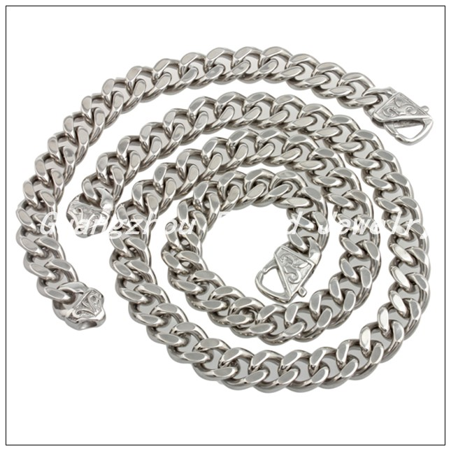 60cm/22cm*15mm Classic 316L Stainless Steel Fashion Silver Chain Neklaces&Bracelet Jewelry Set For Men Boy,High Quality