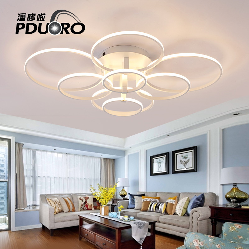 Led Ceiling Lights Modern Lamp Aluminum Remote Control Dimming Lighting Fixture Living Room Bedroom Restaurant Dining Room Light modern 3 6 lights crystal glass clear wineglass wine glass ceiling light lamp bedroom dining room fixture gift ems ship