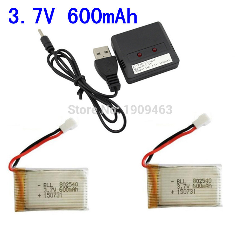Syma X5 X5C X5S X5SC X5SW Parti 3.7 V 600 mAh Batteria Aggiornamento & 2 In 1X2 Batteria Lipo USB Charger Ricambi per Syma RC Drone