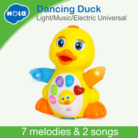 Dancing Duck Battery Operated Toy Figure Action Toy with Flashing Lights Electric Universal Musical Baby Toys