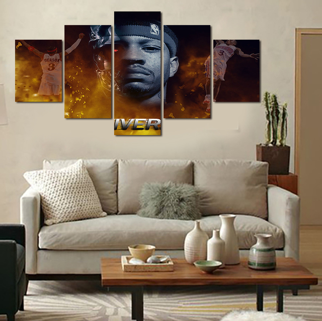 af21803ffb070 US $31.0 |NBA star Allen Iverson HD Picture Home Decoration Living Room  Canvas Print Painting Canvas Picture Free Delivery-in Painting &  Calligraphy ...