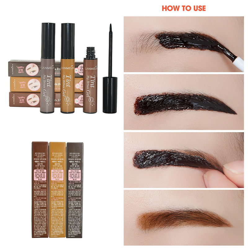 2016 new 3 colors peel off eyebrow gel tattoo brow gel for Tattoo brow gel