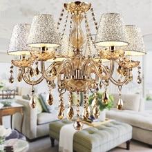 2016 Hot Lustre para sala Luxurious European Style Chandelier 6 Arms Diameter 58cm Living Room Luxury Lamp lustre para quarto