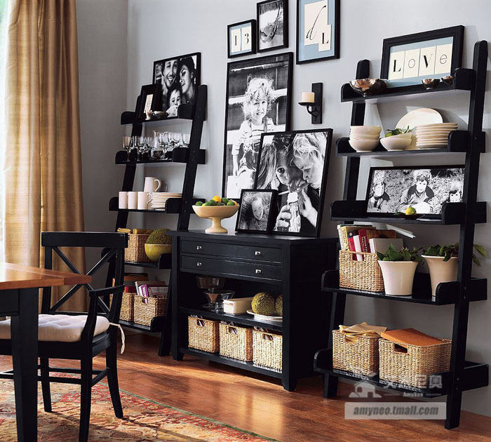 American Country Study Of Solid Wood Bookcase Small Apartment Living Room  Creative Magazine Racks Storage Rack In Luggage Racks From Furniture On ...