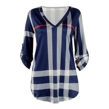 New  2017 Spring Autumn Tops Good Quality Women Sexy Casual Shirts Trendy Plaid Trends Printed Slim V-neck Vestidos