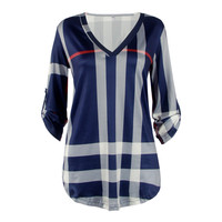 2015 The New Coat Collar Shirt Sleeved T Shirt Printing Female