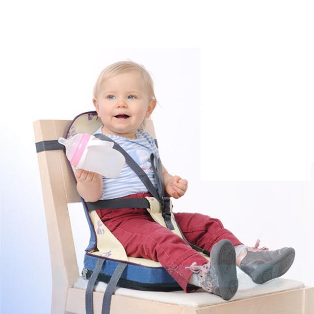 Produto do bebê Dobrável Assentos de Segurança Infantil Portátil Assento Da Cadeira de Jantar Cadeira de Alimentação Do Bebê Arnês Cinto de Segurança Alimentar