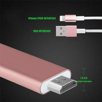 2 In 1 8 Pin 2M For IPAD IPhone6 6s 7 Plus To HDMI HD Line