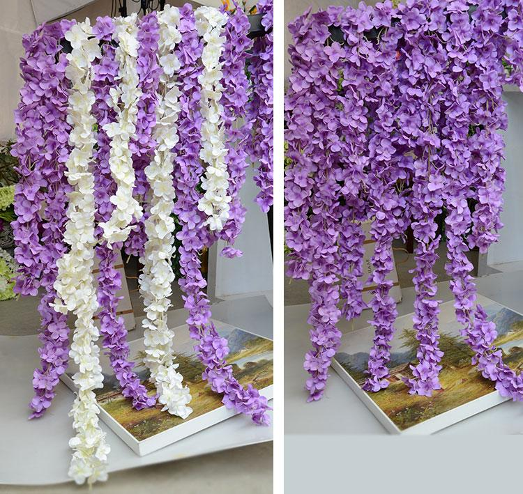 Wedding Arch Flowers Diy: Artificial Hydrangea Wisteria Flower DIY Simulation