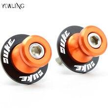 10mm Motorcycle Swingarm Spools Stand Screws Slider Orange For KTM DUKE 125 200 390 DUKE DUKE 690 990 With LOGO