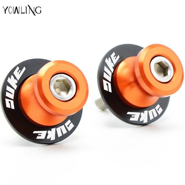 10mm Motorcycle Swingarm Spools Stand Screws Slider Orange For KTM DUKE 125 200 390 DUKE DUKE 690 990